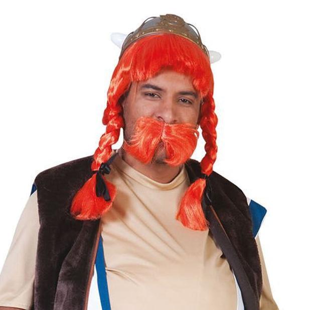 Obelix Pruik + Snor | Pruik Ros