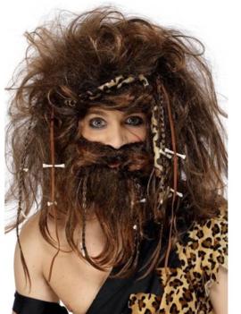 Pruik Crazy Caveman | Holbewoner