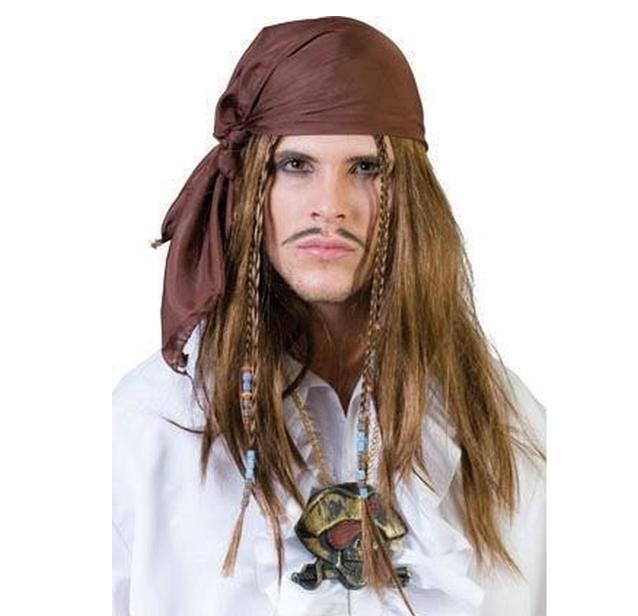 Piratenpruik Met Bandana | Kapitein Jack