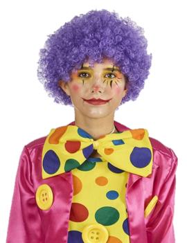 Pruik Krullen Paars | Clown