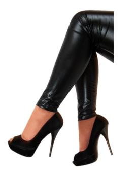 Legging Metallic Zwart | S-M