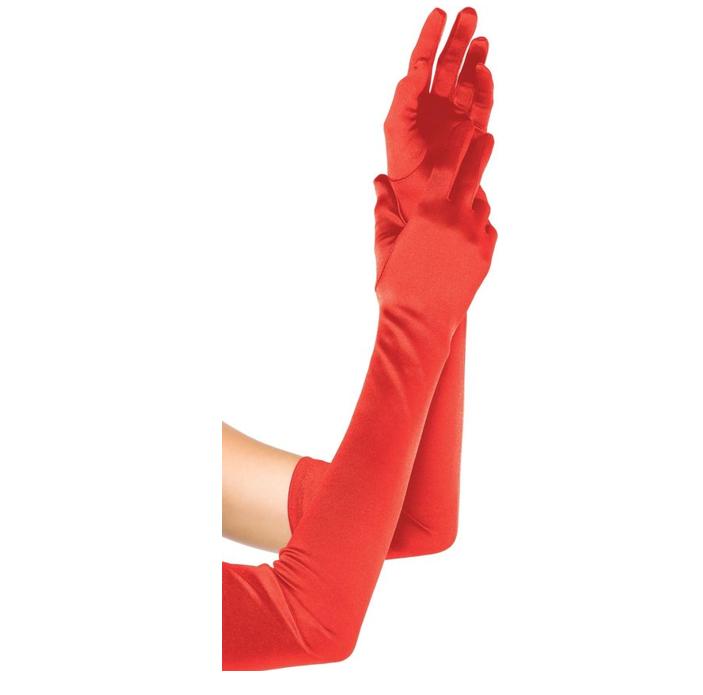 Handschoenen Rood  Glans | Lang