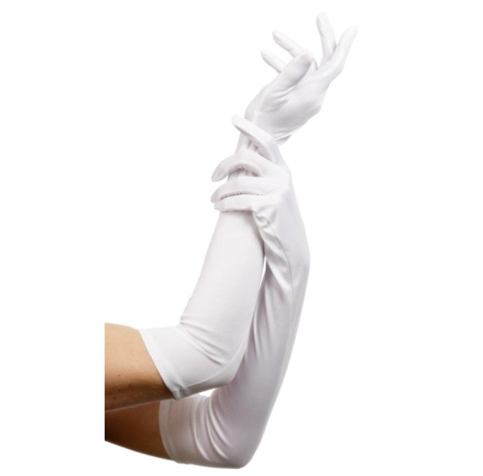 Handschoenen Wit Glans | Lang