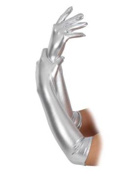 Handschoenen Zilver Glans | Lang