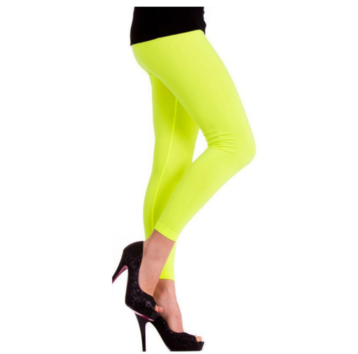 Legging Neon Geel  Fluo   One Size