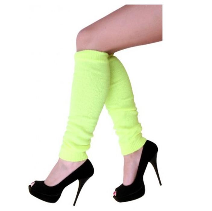 Beenwarmers Fluo Geel | One Size