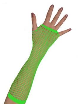 Vingerloze Handschoenen | Neon Groen | Nethandschoenen