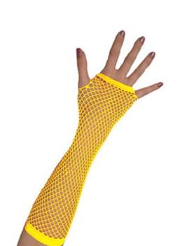Vingerloze Handschoenen | Neon Geel | Nethandschoenen