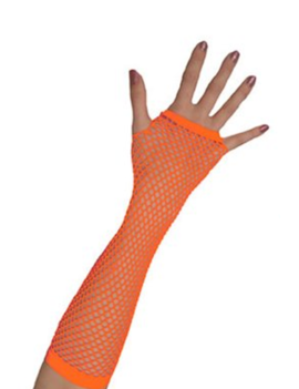 Vingerloze Handschoenen | Neon Oranje | Nethandschoenen
