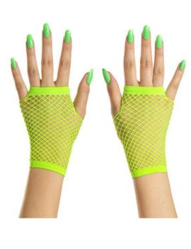 Korte Vingerloze Handschoenen | Neon Groen | Nethandschoenen