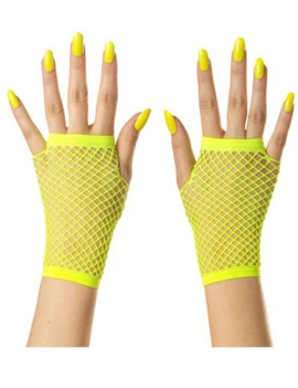 Korte Vingerloze Handschoenen | Neon Geel | Nethandschoenen