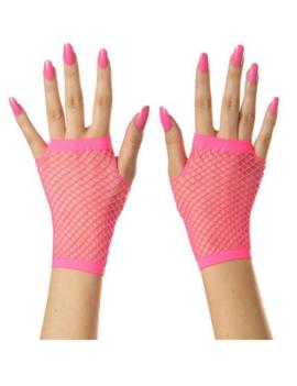 Korte Vingerloze Handschoenen | Neon Roze | Nethandschoenen