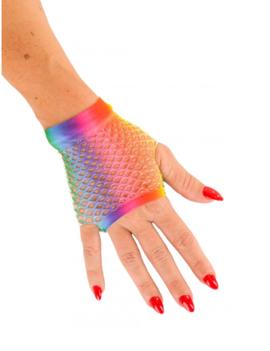 Korte Vingerloze Handschoenen | Multicolor | Nethandschoenen