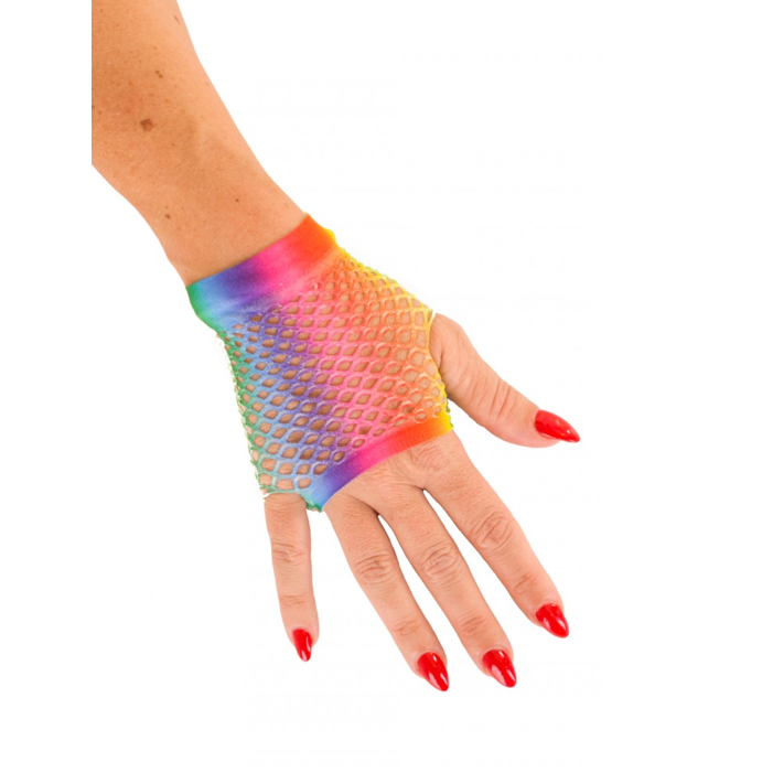 Korte Vingerloze Handschoenen   Multicolor   Nethandschoenen