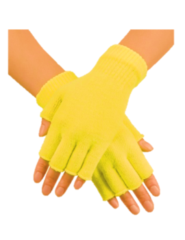 Korte Vingerloze Handschoenen | Geel