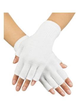 Korte Vingerloze Handschoenen | Wit