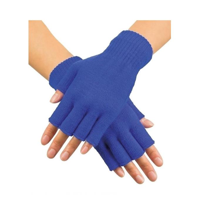 Korte Vingerloze Handschoenen | Blauw