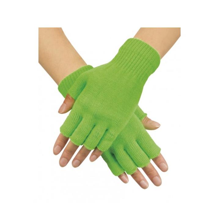 Korte Vingerloze Handschoenen | Fluo Groen