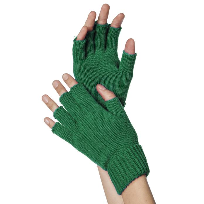 Korte Vingerloze Handschoenen | Donkergroen