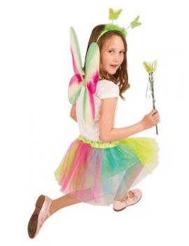 Vlinder Set/ Elf | Vleugels, Tutu, Staf |Multicolor