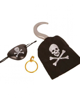 Piraten Setje | Haak/ Oorbel en Ooglapje