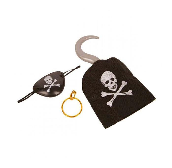 Piraten Setje   Haak/ Oorbel en Ooglapje