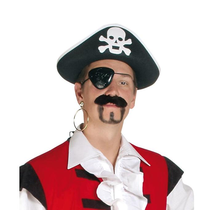 Ooglapje Piraat | Zwart