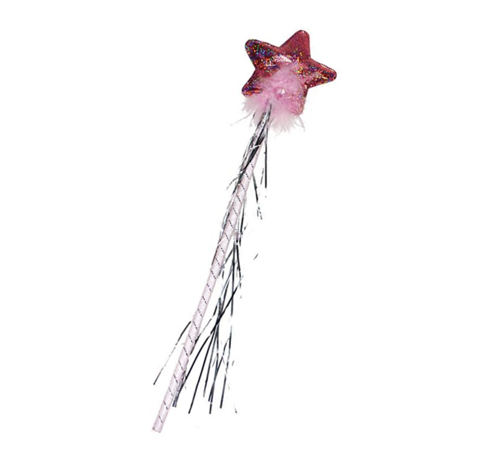 Toverstaf/Roze | Prinses | Holografisch Glitter