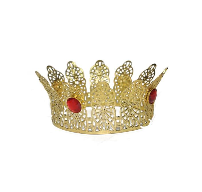 Mini Kroontje | Met Rode Diamanten