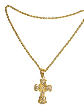 Ketting Pater/ Pastoor | Goud Met Diamantjes