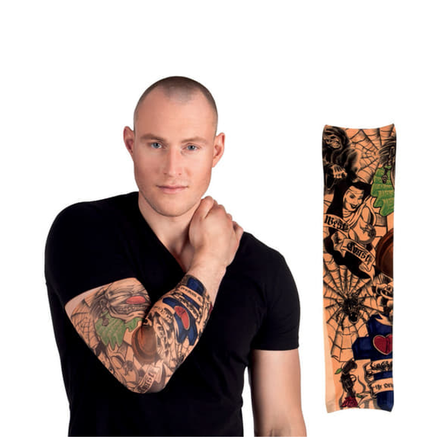 Nep Tattoo Sleeve Arm | Country & Skeletons