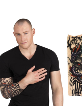 Nep Tattoo Sleeve Arm | Dragon & Skull