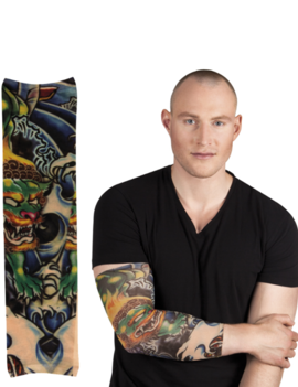 Nep Tattoo Sleeve Arm | Green Dragon