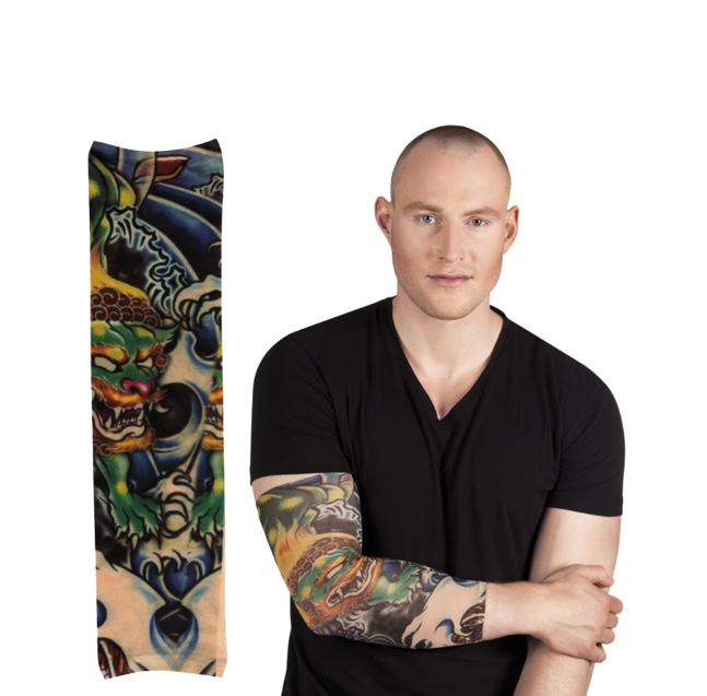 Nep Tattoo Sleeve Arm   Green Dragon