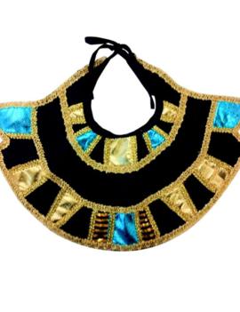 Egyptische Kraag | Farao | Blauw/Goud