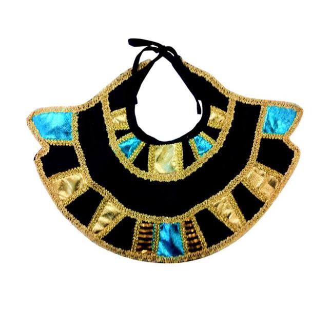 Egyptische Kraag   Farao   Blauw/Goud