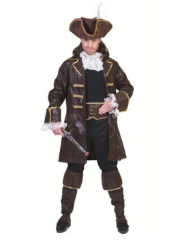 Piraat/ Kapitein Cornelis   Kostuum Bruin
