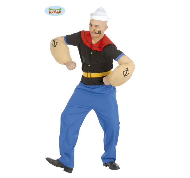 Klassiek Popeye Kostuum | Heren