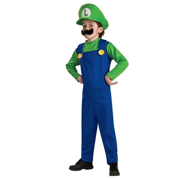 Luigi Kostuum   Super Mario Kinderkostuum
