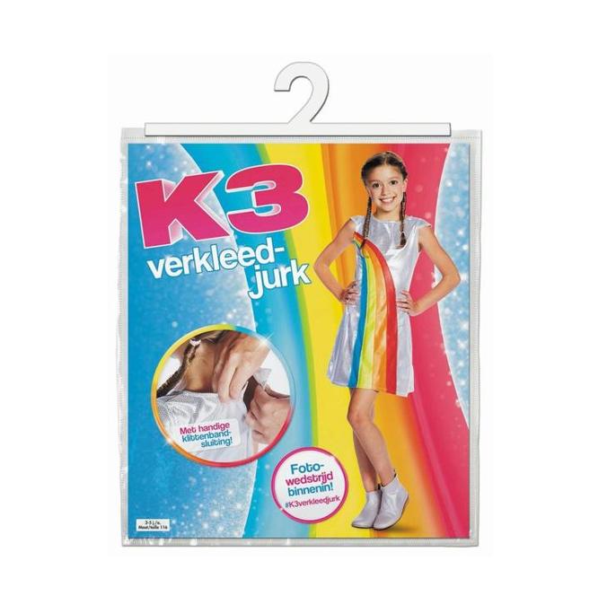 K3 Regenboogjurk   Kinderkostuum   Studio 100