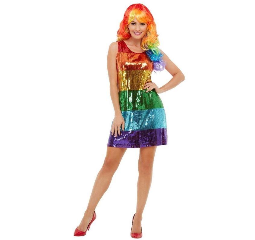 Regenboogkleed/ Rainbow Paillet | Dameskostuum