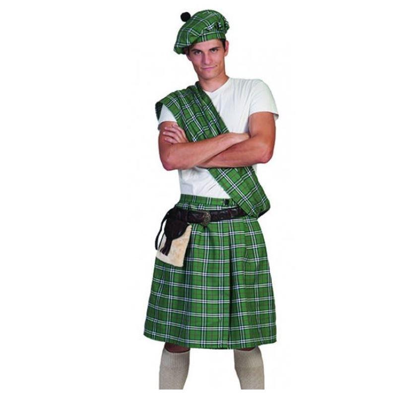 Highlander Schot/ Groen   Herenkostuum