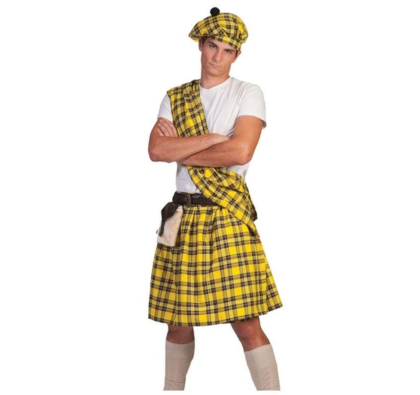 Highlander Schot/ Geel   Herenkostuum