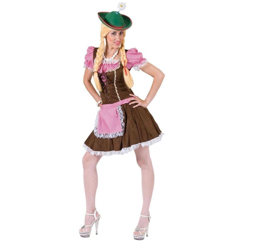 Tiroler Rosa Meisje   Dameskostuum