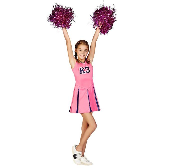 Cheerleader Jurkje + Pom Poms | Kinderkostuum | Studio 100