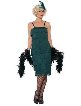Charleston  20's Flapper Kostuum| Dameskostuum  | Groen