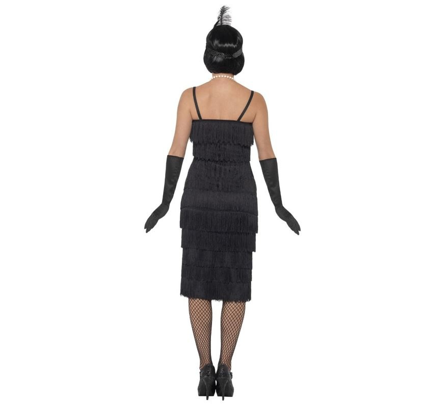 Charleston  20's Flapper Kostuum| Dameskostuum  | Zwart