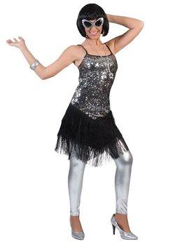 Fringie Flapper Zilver | Dameskostuum | 20's Kleedje