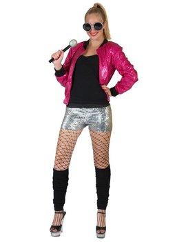 Disco Bomber Jacket | Roze | Dameskostuum