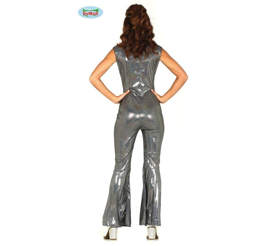 Disco Jumpsuit Zilver | Dameskostuum